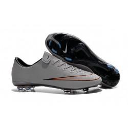 Chaussure de Football Hommes Nike Mercurial Vapor 10 FG Argent Blanc Hyper Turquoise Noir