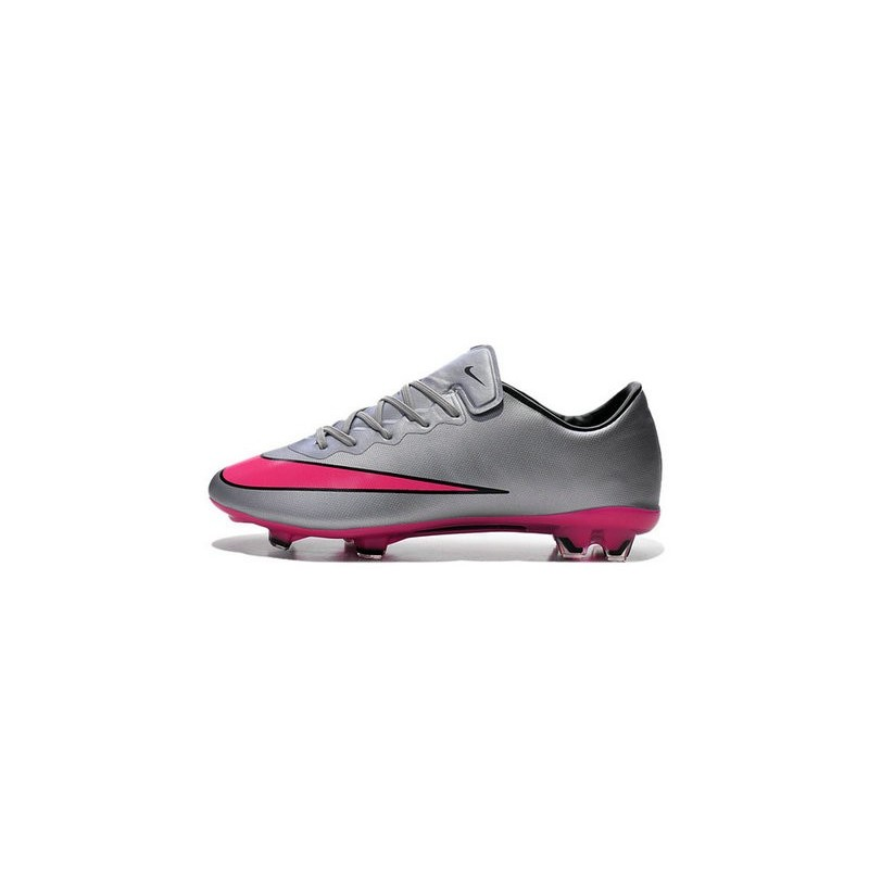 nouvelle chaussure de football nike mercurial vapor x fg gris loup hyper rose noir. Black Bedroom Furniture Sets. Home Design Ideas