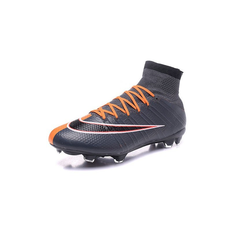 2016 nouvelle chaussure nike mercurial superfly iv fg noir orange blanc. Black Bedroom Furniture Sets. Home Design Ideas