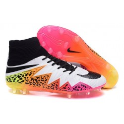 Nike HyperVenom Phantom 2 FG Chaussures de football Blanc Orange Rose Noir