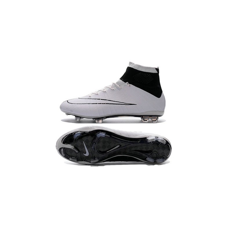 2016 nouvelle chaussure nike mercurial superfly iv fg noir blanc. Black Bedroom Furniture Sets. Home Design Ideas