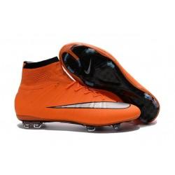 2016 Nouvelle Chaussure Nike Mercurial Superfly IV FG Orange Argenté Noir