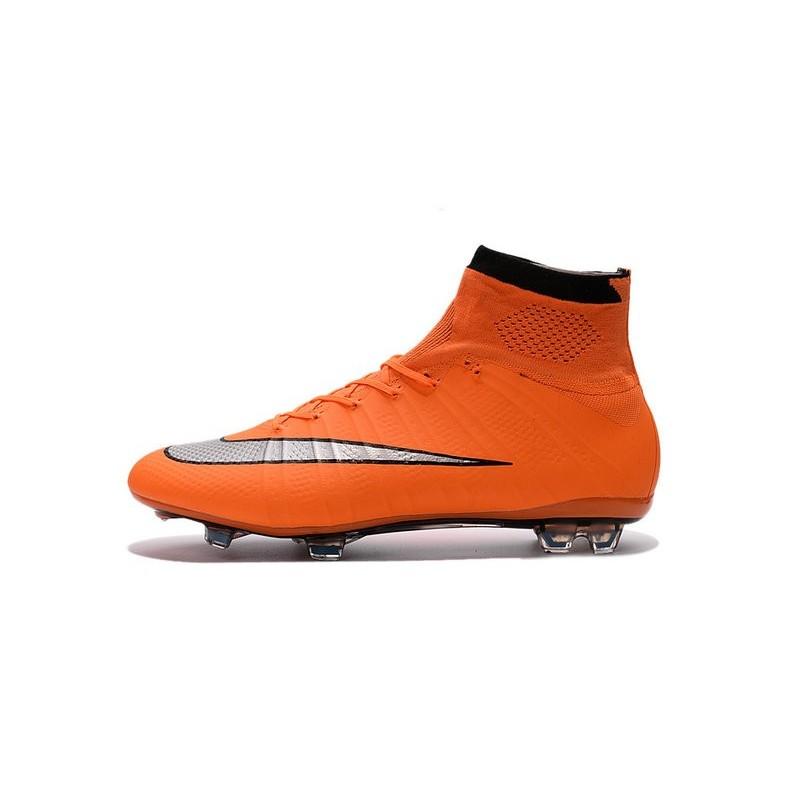 quite nice 06937 ce961 2016 Nouvelle Chaussure Nike Mercurial Superfly IV FG Orange Argenté Noir
