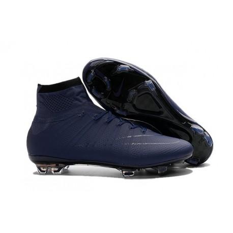 Nouveau Chaussure de Football Nike Mercurial Superfly CR FG Bleu Foncé