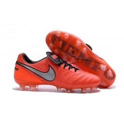 Hommes 2016 Nike Tiempo Legend VI FG Crampons Nike Orange Noir Gris