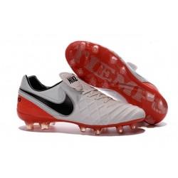 Nouveau Crampons de Football Nike Tiempo Legend VI FG Blanc Rouge Noir