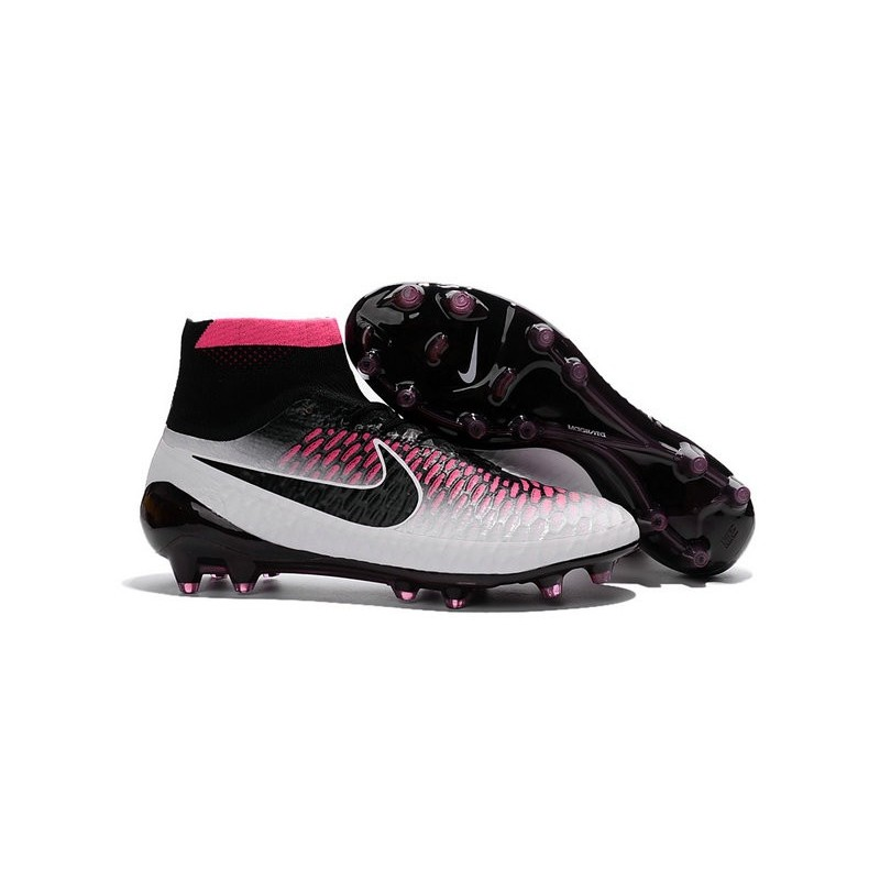 best service 92496 38a4e Nouveau Chaussures de Football Nike Magista Obra FG Noir Blanc Rouge