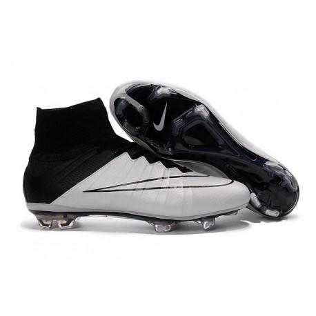 Nouveau Chaussure de Football Nike Mercurial Superfly CR FG Blanc Noir Cuir