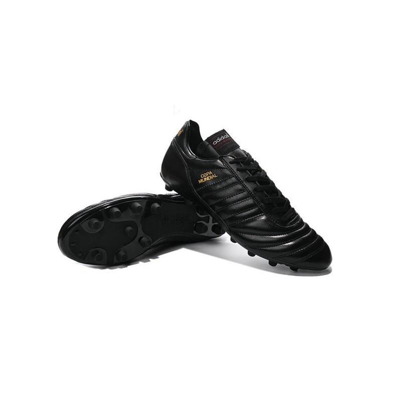 best website b919b c89d1 Nouveau Crampons de Foot Adidas Copa Mundial FG Hommes Noir Or