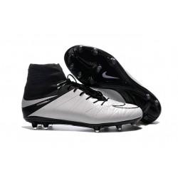 Nike HyperVenom Phantom II FG Football bottes pour hommes Blanc Noir