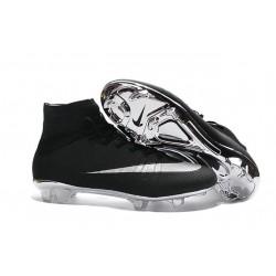 2016 Nouvelle Chaussure Nike Mercurial Superfly IV FG Argenté Noir
