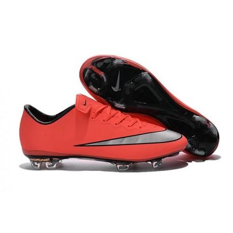 Chaussure de Football Hommes Nike Mercurial Vapor 10 FG Mangue Argent Turquoise