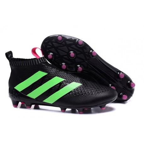 Adidas Ace16+ Purecontrol FG/AG Chaussures de Football Pour Homme Vert Noir