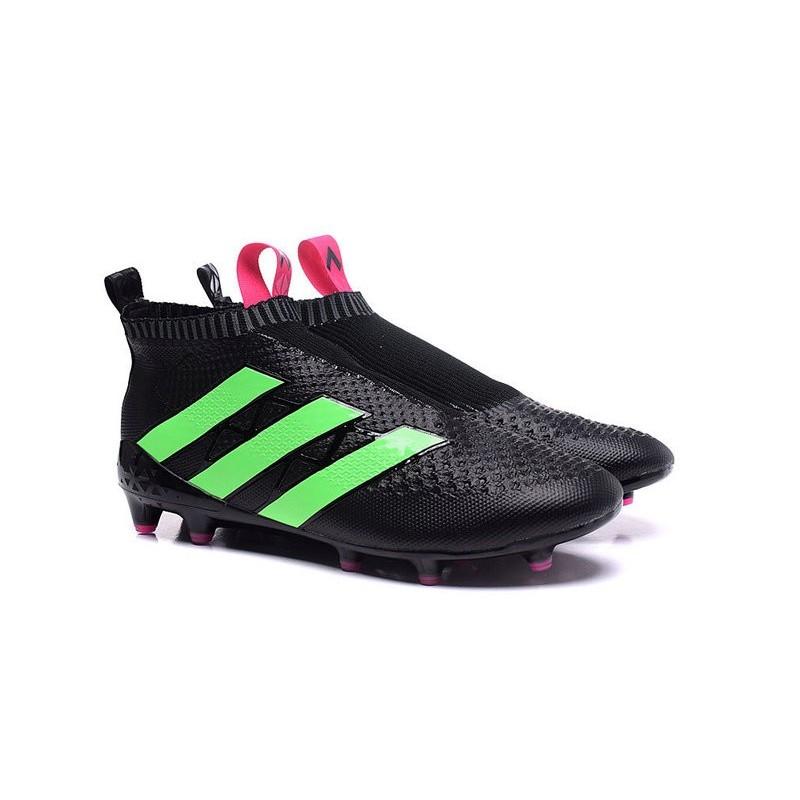 Adidas Ace16+ Purecontrol FGAG Chaussures de Football Pour Homme Vert Noir