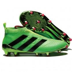 Adidas Ace16+ Purecontrol FG/AG Chaussures de Football Pour Homme Solar Vert Noir Rose