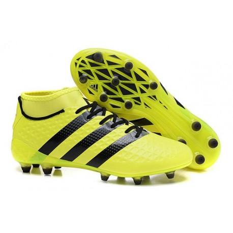 Nouvelles - Chaussures adidas ACE 16.1 Primeknit FG/AG Jaune Noir