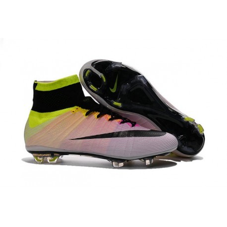 Nouveau Chaussure de Football Nike Mercurial Superfly CR FG Blanc Noir Volt Orange Total