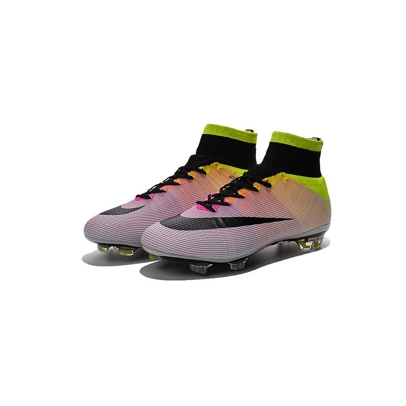 new product f33e7 d96d9 ... nouveau chaussure de football nike mercurial superfly cr fg blanc noir  volt orange total