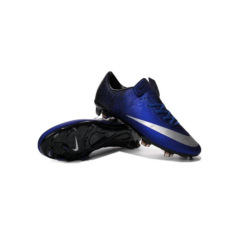 nouvelle chaussure de football nike mercurial vapor x fg bleu royal argent noir. Black Bedroom Furniture Sets. Home Design Ideas
