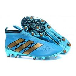 Adidas Ace16+ Purecontrol FG/AG Chaussures de Football Pour Homme Bleu Or