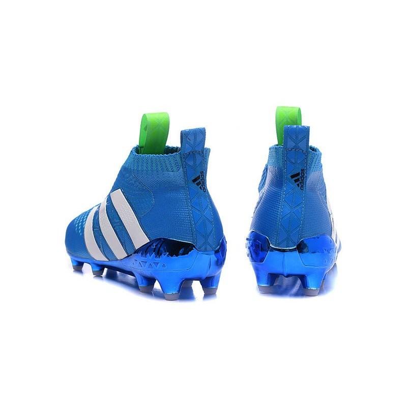 crampon adidas bleu