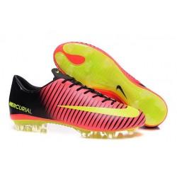 Chaussures Nike Football Hommes - Nike Mercurial Vapor 11 FG Rose Volt Noir
