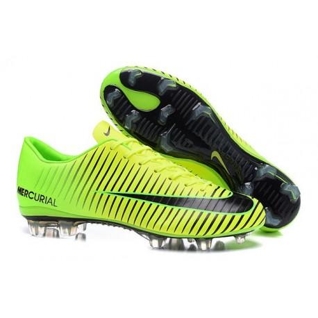 photos officielles 6a13b 334f3 Chaussures Nike Football Hommes - Nike Mercurial Vapor 11 FG Vert Noir