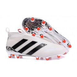 Adidas Ace16+ Purecontrol FG/AG Chaussures de Football Pour Homme Blanc Noir Rouge