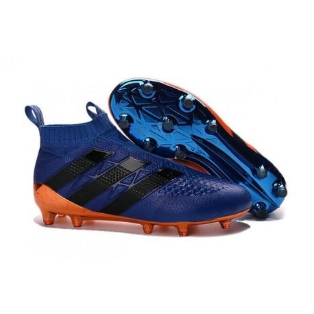 chaussure de foot adidas bleu et orange,Pas chere Adidas,Pas