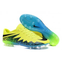 Crampon de Foot Nike Hypervenom Phinish Neymar FG Volt Noir Hyper Turquoise