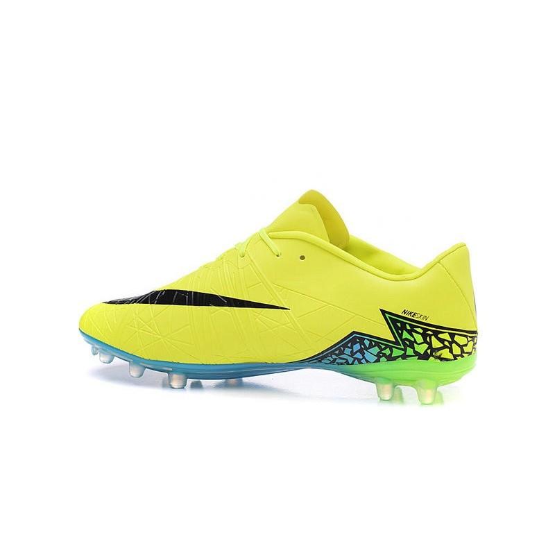 Nike Hypervenom Phantom II FG Jaune Fluo Noir Turquoise