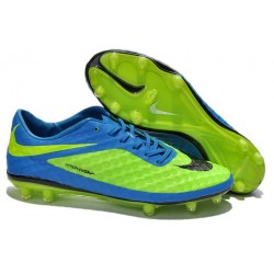 Crampon de Foot Nike Hypervenom Phantom Neymar FG Bleu Vert