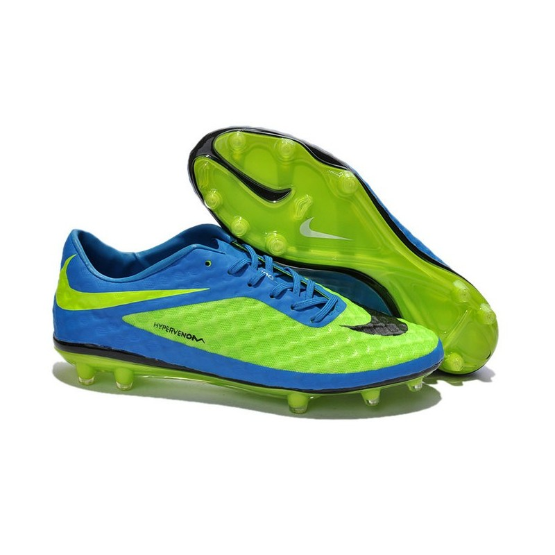 crampon de foot nike hypervenom phantom neymar fg bleu vert. Black Bedroom Furniture Sets. Home Design Ideas