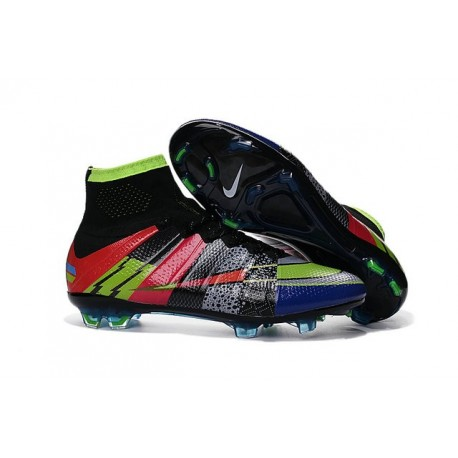 2016 Nouvelle Chaussure Nike Mercurial Superfly IV FG Noir Vert Rouge Bleu What the Mercurial