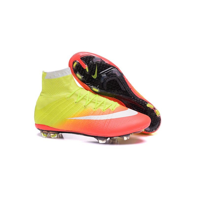 2016 nouvelle chaussure nike mercurial superfly iv fg jaune orange blanc noir. Black Bedroom Furniture Sets. Home Design Ideas