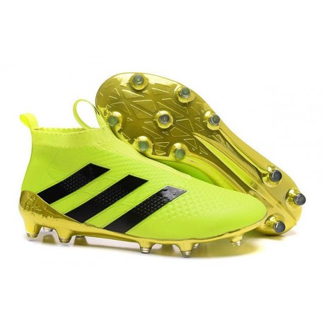 Adidas Ace16+ Purecontrol FG/AG Chaussures de Football Pour Homme Volt Or Noir
