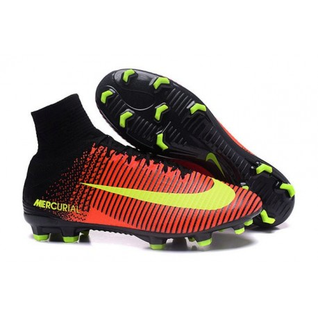 new style 62463 566ee Nouveau Chaussure de Football Nike Mercurial Superfly V FG Carmin Volt Rose