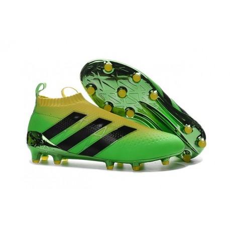 Adidas Ace16+ Purecontrol FG/AG Chaussures de Football Pour Homme Solar Vert Jaune Noir - Jeux Olympiques Brésil