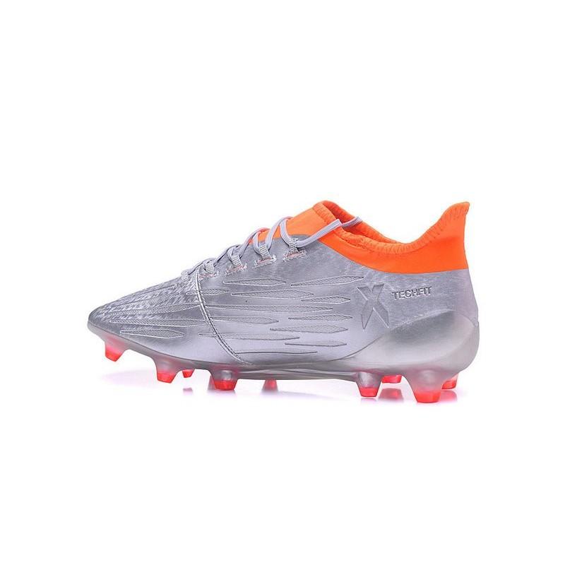hot sale online f8080 78a89 2016 Chaussures de football Adidas X 16.1 AG FG Argent Noir Rouge