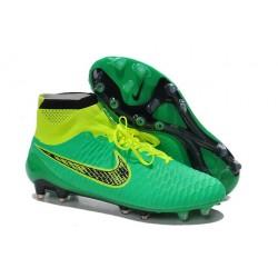 Coupe du Monde 2014 Crampons Nike Magista Obra FG Vert Jaune Noir