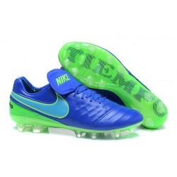 Nouveau Crampons de Football Nike Tiempo Legend VI FG Bleu Vert