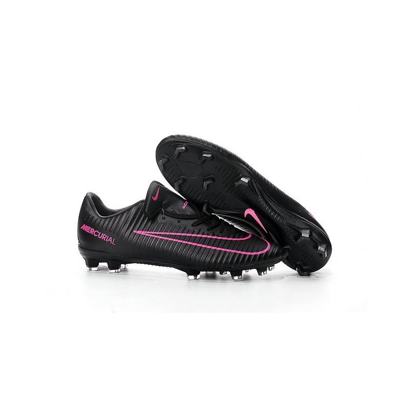 chaussures nike football hommes nike mercurial vapor 11 fg noir rose
