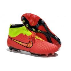Nouveau Chaussures de Football Nike Magista Obra FG Rouge Vert