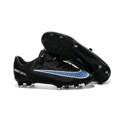 Chaussures Nike Football Hommes - Nike Mercurial Vapor 11 FG Noir Bleu