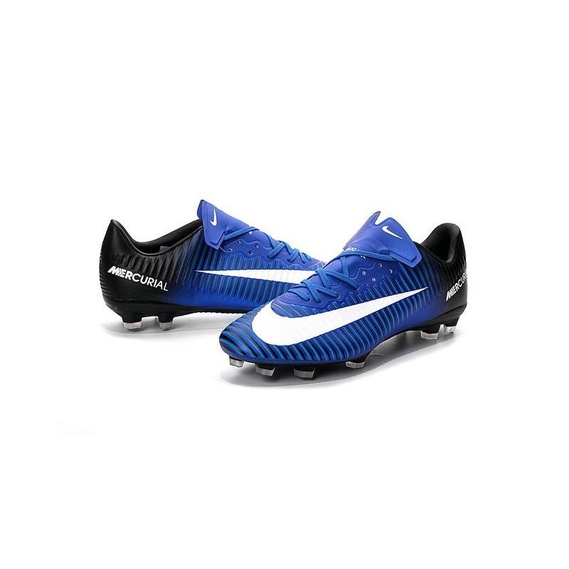 chaussures nike football hommes nike mercurial vapor 11 fg bleu blanc noir