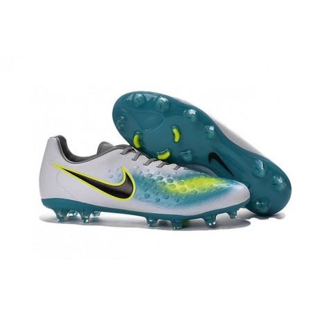 2016 Neuf Crampon de Football Nike Magista Opus II FG Blanc Hyper turquoise Noir