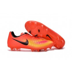 2016 Neuf Crampon de Football Nike Magista Opus II FG Orange Jaune Rose Noir