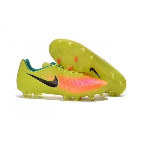 2016 Nike - Crampons Nike Magista Opus II FG Volt Noir Orange