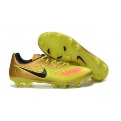 Nouveau Chaussure de Football Nike Magista Opus II FG Hommes Or Volt Noir