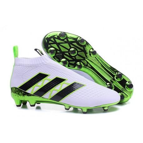 low priced a32b5 dbb8e Adidas Ace16+ Purecontrol FGAG Chaussures de Football Pour Homme Vert Blanc  Noir